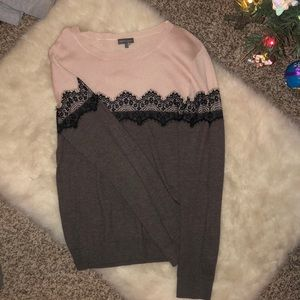 Light pink with lace sweater